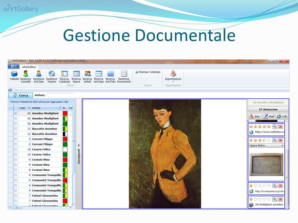 Diapositiva gestione documentale software gestionale